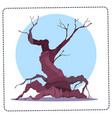 scary old tree icon happy halloween concept vector image