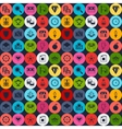 Seamless pattern with game icons in flat design vector image vector image