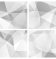 set 4 gray geometric backgrounds vector image vector image