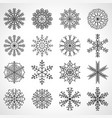 set of sixteen snowflakes christmas vector image vector image