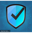 Shield Protection - secure internet vector image vector image