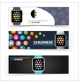 Smart watch banners vector image