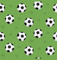 soccer ball seamless pattern for background web vector image vector image