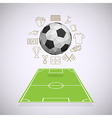 Soccer yard with thin line icons vector image vector image