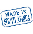 South Africa - made in blue vintage isolated label vector image vector image