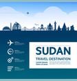 sudan travel destination vector image vector image