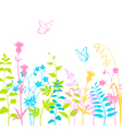 summer floral background vector image vector image