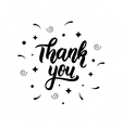 Thank you Trendy hand lettering quote fashion vector image