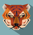Tiger face icon vector image vector image