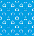 toaster pattern seamless blue vector image vector image