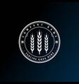 vintage retro grain wheat malt rice grass logo vector image