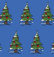 xmas trees forest vector image vector image