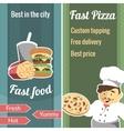 Fast food vertical banner set vector image