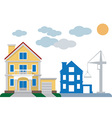 construction of private houses vector image