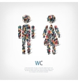 wc people sign vector image