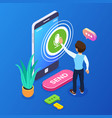 3d isometric record voice message concept a vector image vector image