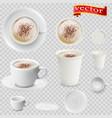 3d realistic mocha coffee vector image vector image