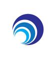 abstract circle layer logo image vector image vector image