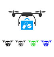 airdrone pharmacy delivery flat icon vector image vector image