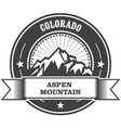 Aspen Colorado - mountain peak round stamp vector image vector image