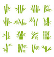 bamboo tree branches color icons set vector image vector image