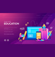 banner and website landing page template online vector image