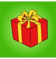 Box with gift pop art style vector image vector image