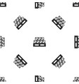 boxes goods pattern seamless black vector image vector image