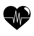 breathing and alive sign red love heart healthy vector image