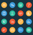 building outline icons set collection of vector image
