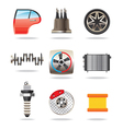 Car parts and symbols vector image