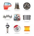 Car parts and symbols vector image vector image