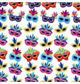 carnival mask background vector image
