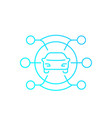 carsharing service icon linear with gradient vector image vector image