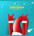 cartoon rock n roll santa claus character vector image