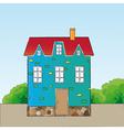 Cartoon style house vector image vector image