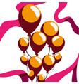 celebrating balloons ribbon vector image
