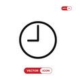 clock icon watchtime symbol vector image vector image