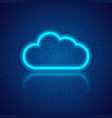 cloud computing on an abstract digital background vector image