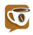 coffee house hot drink in cup and bean isolated vector image vector image