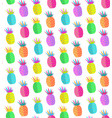 colorful pineapple seamless pattern design vector image vector image