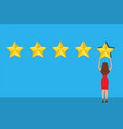 customer giving five star rating vector image