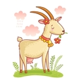 Cute Farm Animal Goat vector image