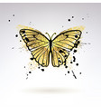 decorative glowing golden butterfly vector image vector image