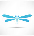 dragonfly icon vector image vector image