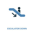 escalator down icon monochrome style design from vector image