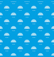 fan chart pattern seamless blue vector image vector image