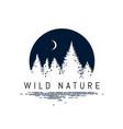 forest landscape silhouette design inside vector image