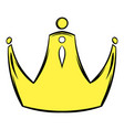 golden crown icon cartoon vector image vector image