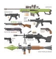 gun military weapon or army handgun and war vector image